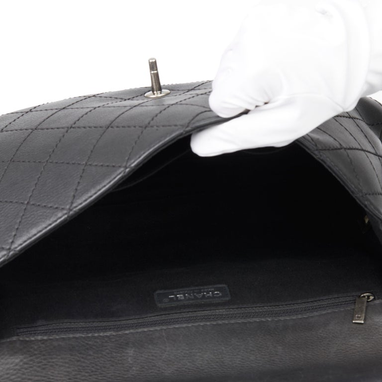 2014 Chanel Black Quilted Calfskin Leather Paris-Dallas Ride Western Saddle Bag For Sale 7