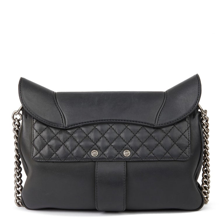 2014 Chanel Black Quilted Calfskin Leather Paris-Dallas Ride Western Saddle Bag For Sale 1