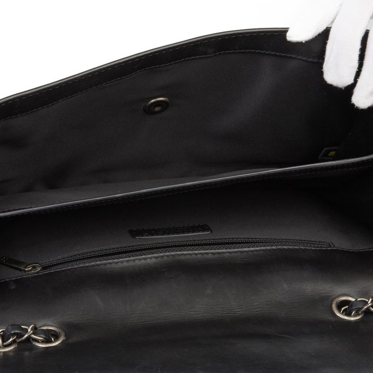 2014 Chanel Black Quilted Lambskin Large Citizen Flap Bag  7