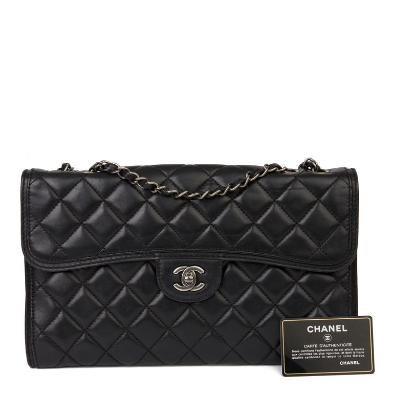 2014 Chanel Black Quilted Lambskin Large Citizen Flap Bag  8