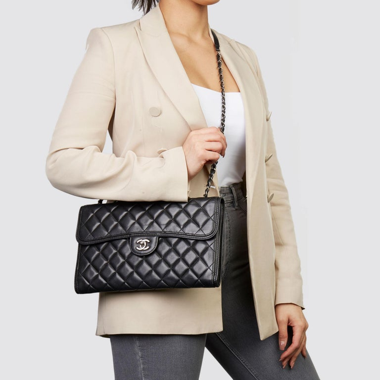 CHANEL  Black Quilted Lambskin Large Citizen Flap Bag   Xupes Reference: HB3620 Serial Number: 18317478 Age (Circa): 2014 Accompanied By: Authenticity Card Authenticity Details: Authenticity Card, Serial Sticker (Made in Italy) Gender: Ladies Type: