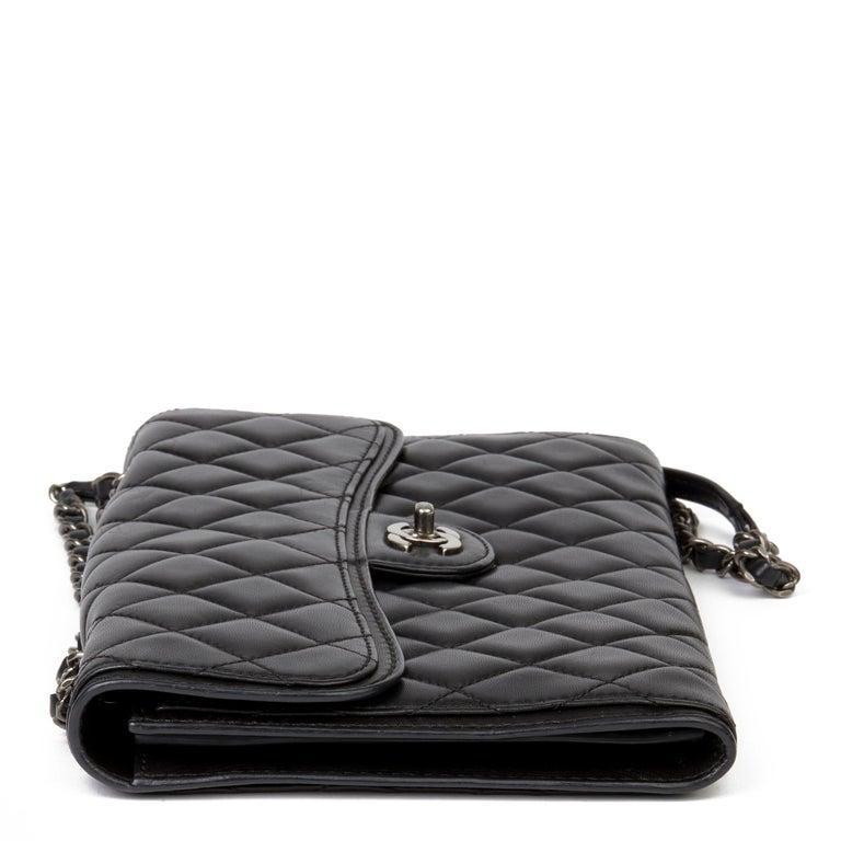 2014 Chanel Black Quilted Lambskin Large Citizen Flap Bag  In Excellent Condition In Bishop's Stortford, Hertfordshire