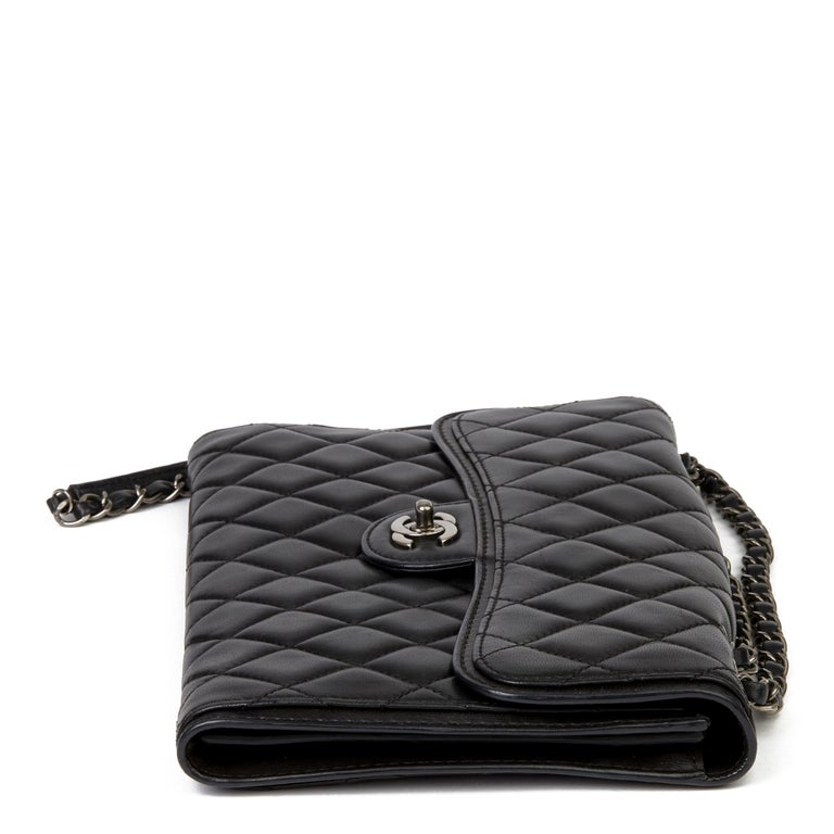Women's 2014 Chanel Black Quilted Lambskin Large Citizen Flap Bag