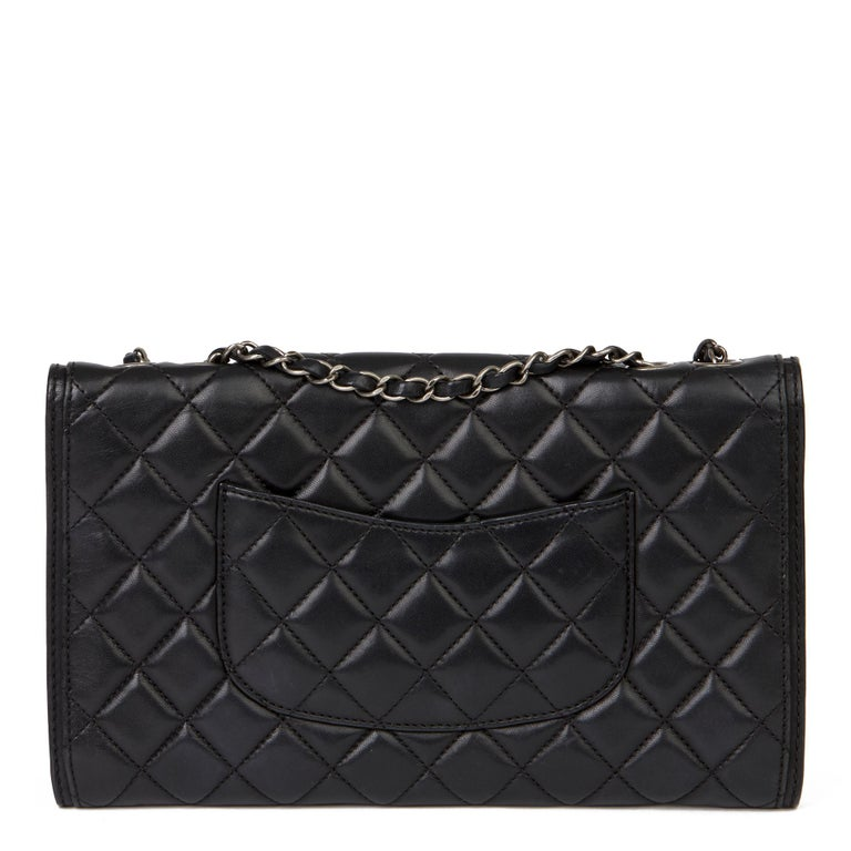 2014 Chanel Black Quilted Lambskin Large Citizen Flap Bag  1