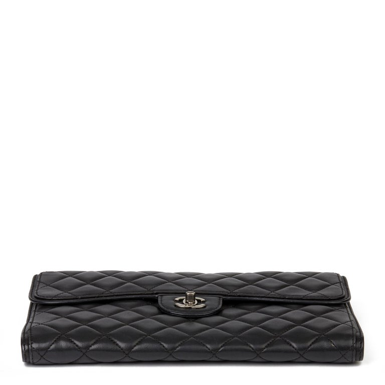 2014 Chanel Black Quilted Lambskin Large Citizen Flap Bag  2