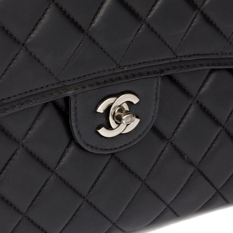 2014 Chanel Black Quilted Lambskin Large Citizen Flap Bag  3
