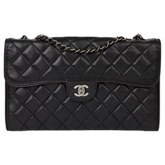2014 Chanel Black Quilted Lambskin Large Citizen Flap Bag