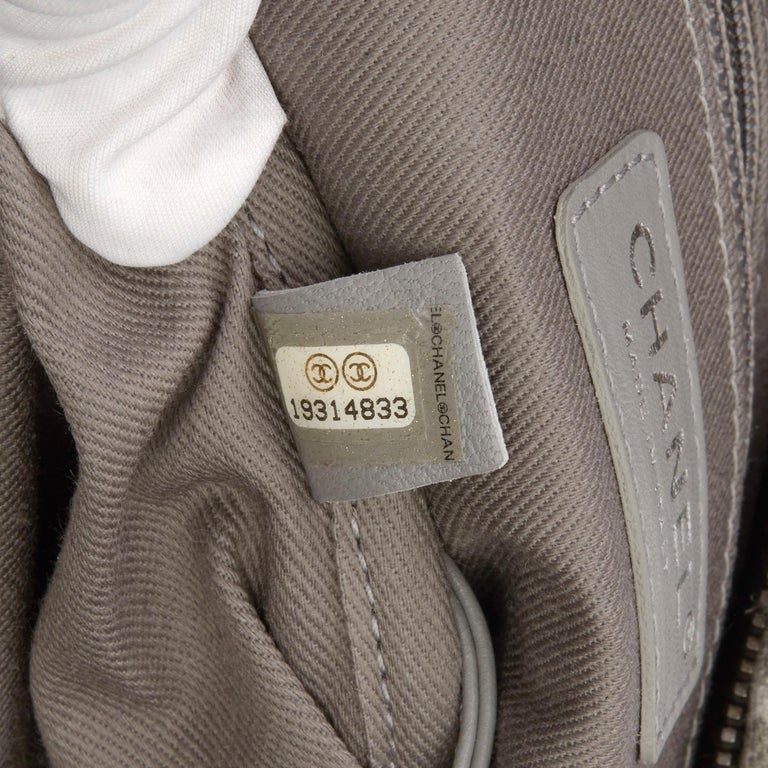 2014 Chanel Grey Painted Canvas Medium Graffiti Backpack 5