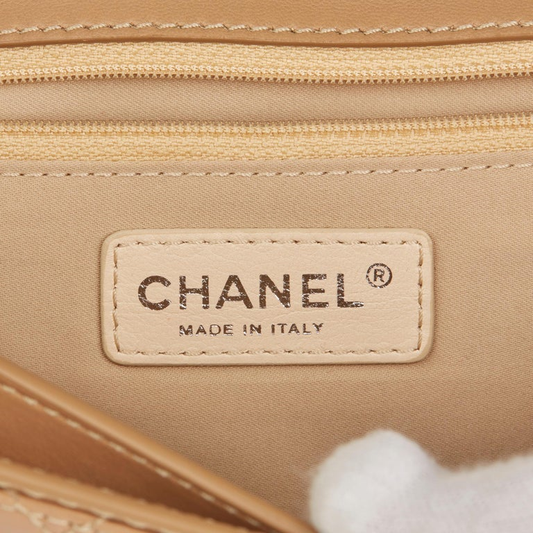 2014 Chanel Mocha Quilted Lambskin Classic Single Flap Bag For Sale 3