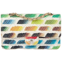 2014 Chanel Multicolor Quilted Canvas Watercolour Colorama Flap Bag