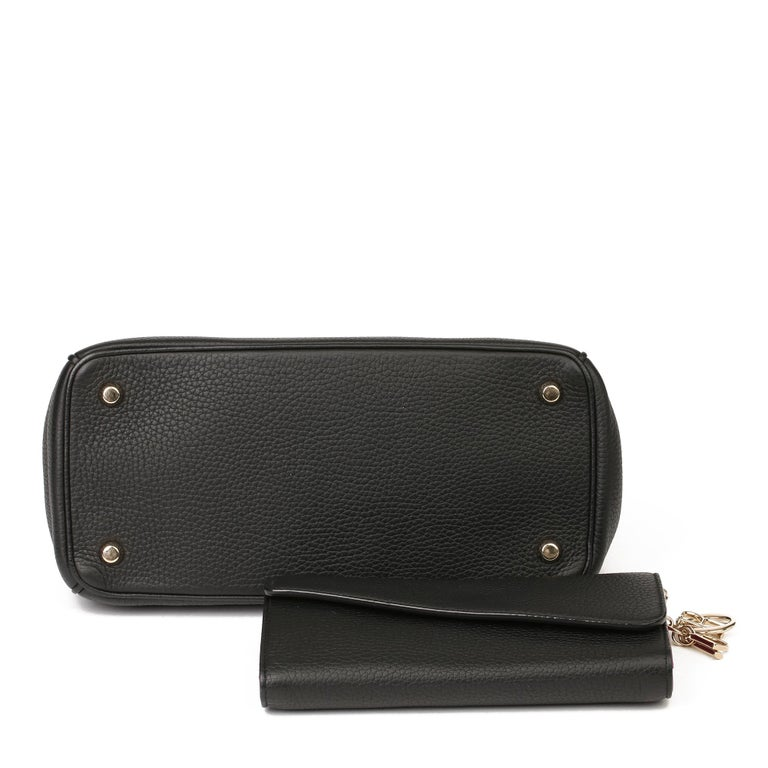 2014 Christian Dior Black Grained Calfskin Leather Be Dior with Wallet-on-Chain For Sale 2