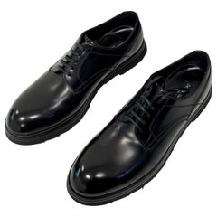 2014 Dolce and Gabbana Men's Black Leather Shoes
