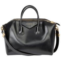 2014 Givenchy Black Smooth Calfskin Leather Medium Antigona
