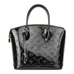2014 Louis Vuitton Black Patent Vernis Leather Lockit PM