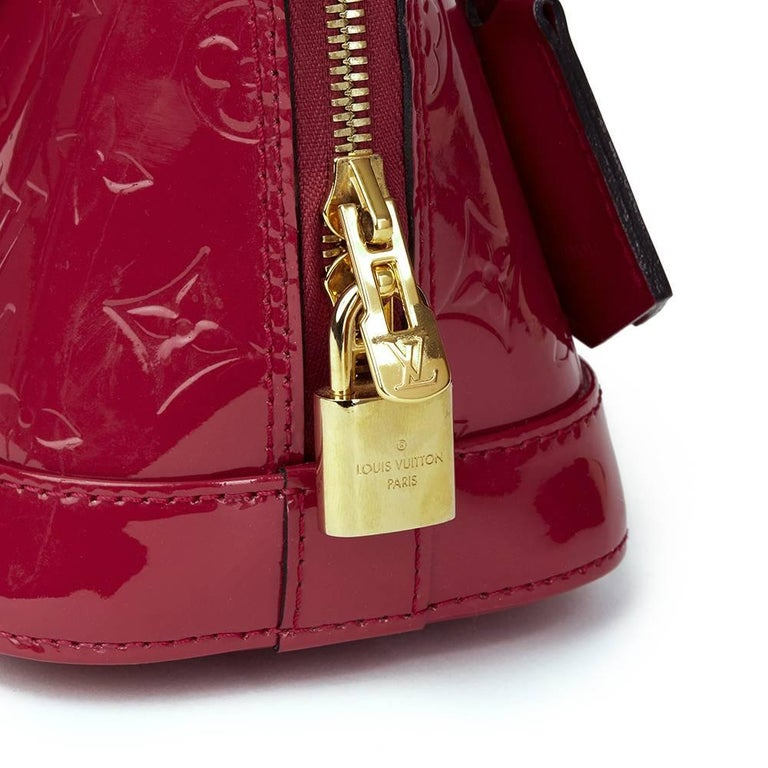 Women's 2014 Louis Vuitton Indian Rose Vernis Leather Alma BB For Sale