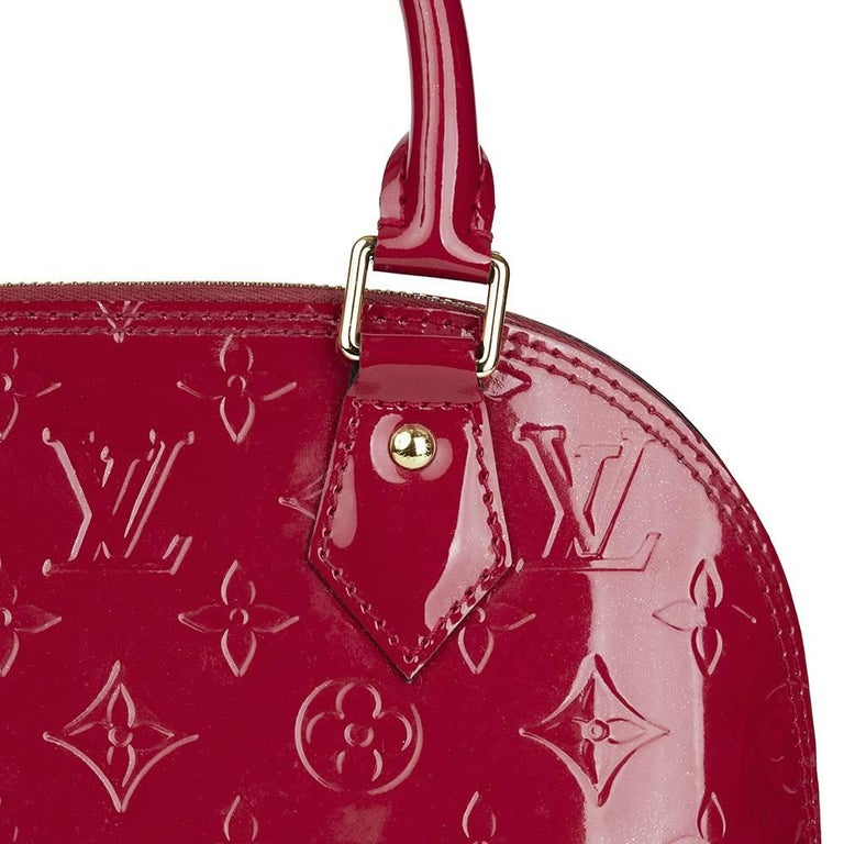 2014 Louis Vuitton Indian Rose Vernis Leather Alma BB For Sale 1