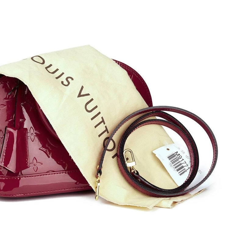 2014 Louis Vuitton Indian Rose Vernis Leather Alma BB For Sale 4