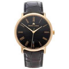 2014 Maurice Lacroix Les Classiques Rose Gold LC6007-PG101-310-1 Wristwatch