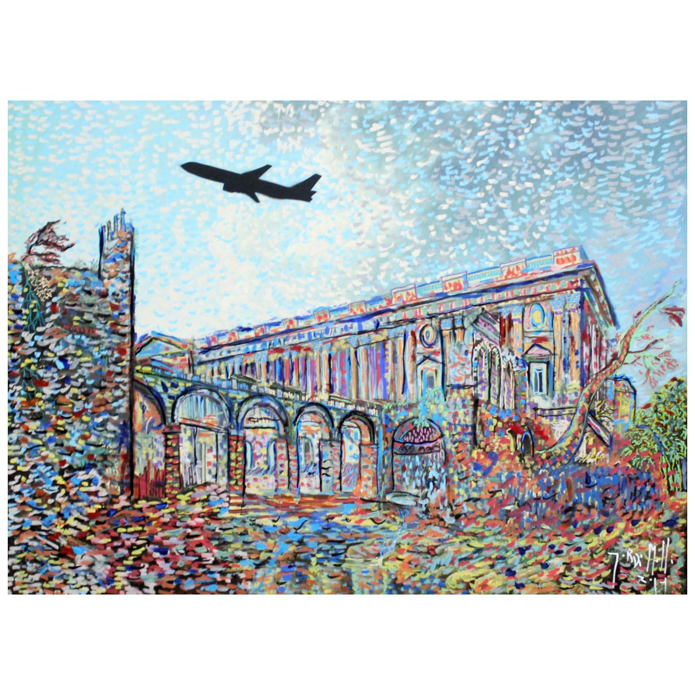 2014 Pointillist Painting by Artist and Actor Jordi Mollá