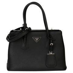 2014 Prada Black Calfskin Leather Saffiano Tote