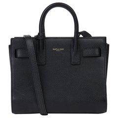 2014 Saint Laurent Black Grained Calfskin Leather Mini Sac de Jour