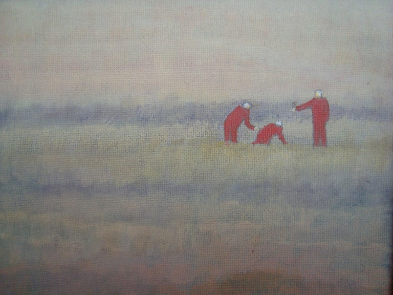 3 people digging in the field - Are they finding or hiding something? 