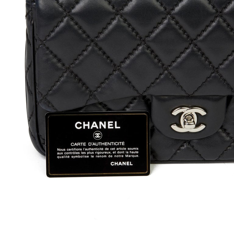 2015 Chanel Black Quilted Lambskin Medium Easy Carry Flap Bag 8