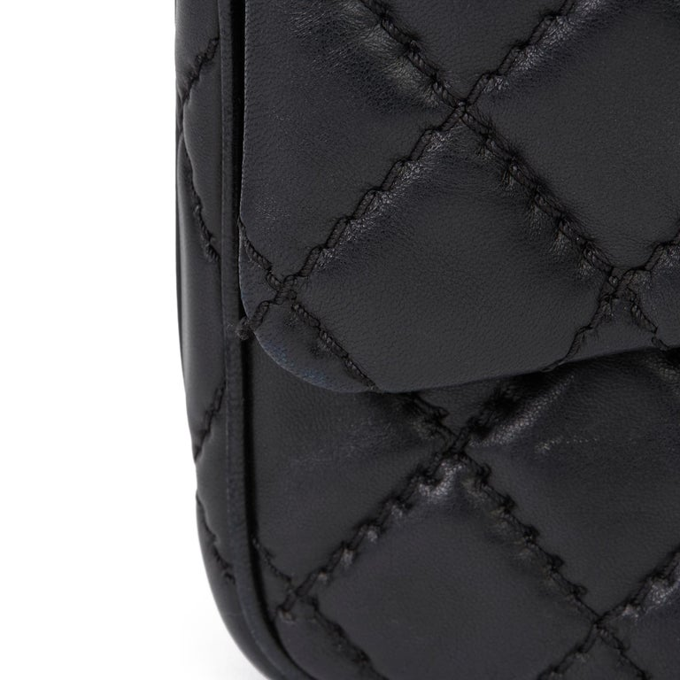 2015 Chanel Black Quilted Lambskin Medium Easy Carry Flap Bag 9