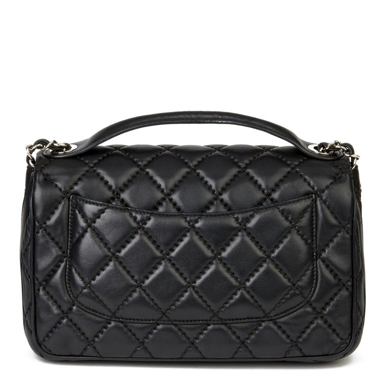 2015 Chanel Black Quilted Lambskin Medium Easy Carry Flap Bag 1