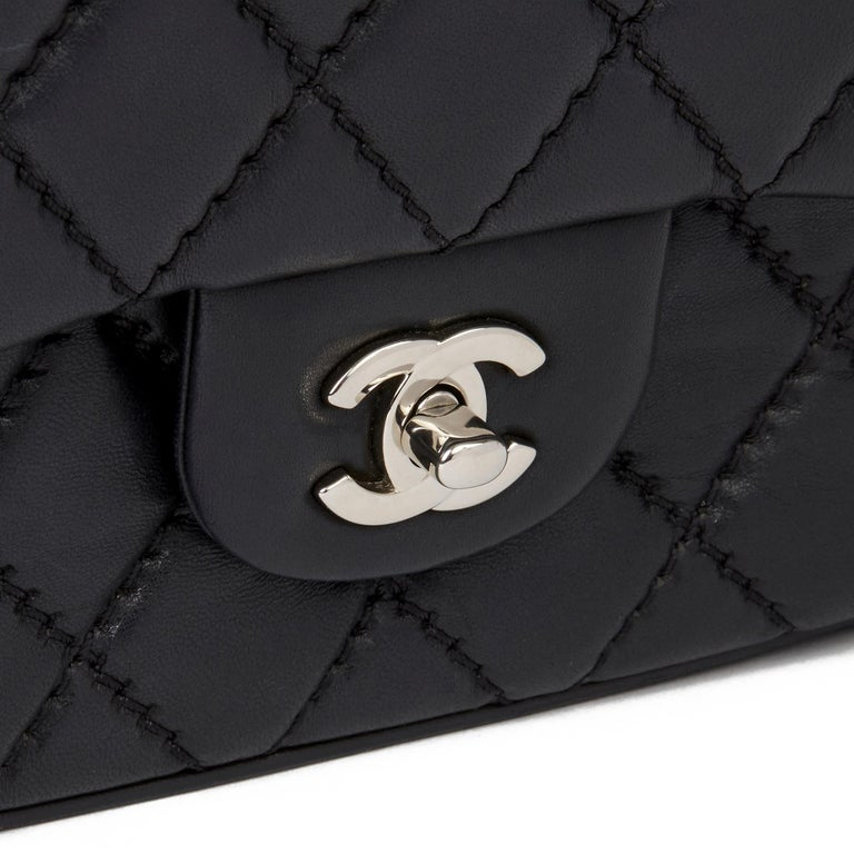 2015 Chanel Black Quilted Lambskin Medium Easy Carry Flap Bag 3