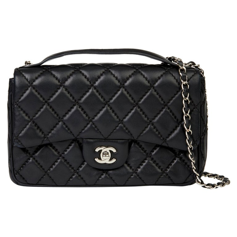 2015 Chanel Black Quilted Lambskin Medium Easy Carry Flap Bag