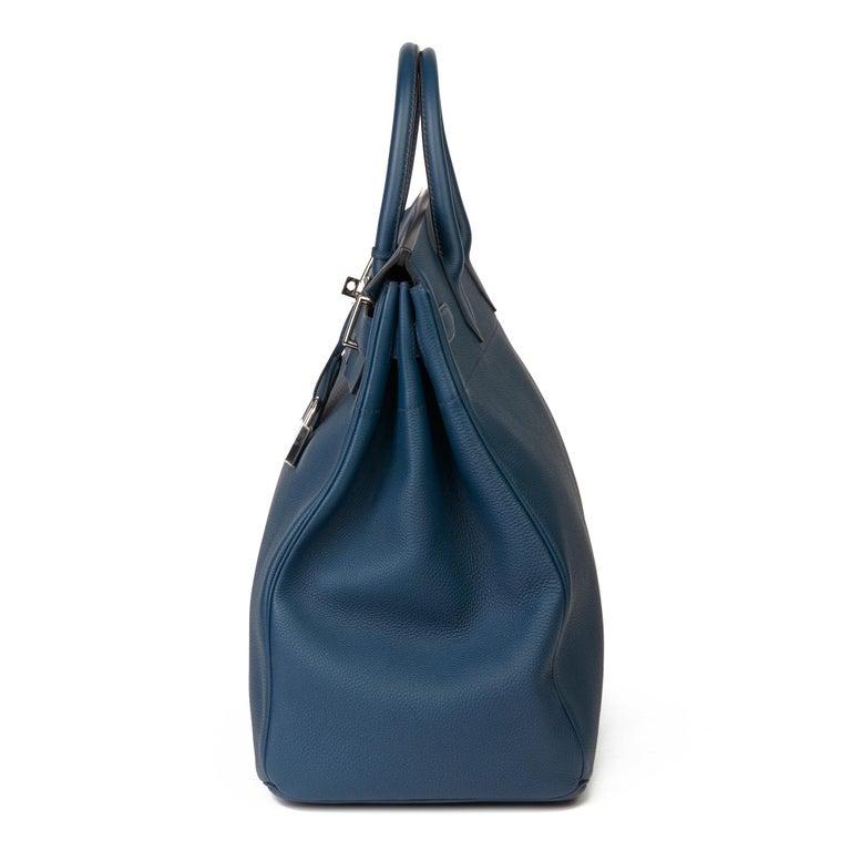 Women's 2015 Hermès Bleu de Prusse Togo Leather Birkin 40cm HAC For Sale