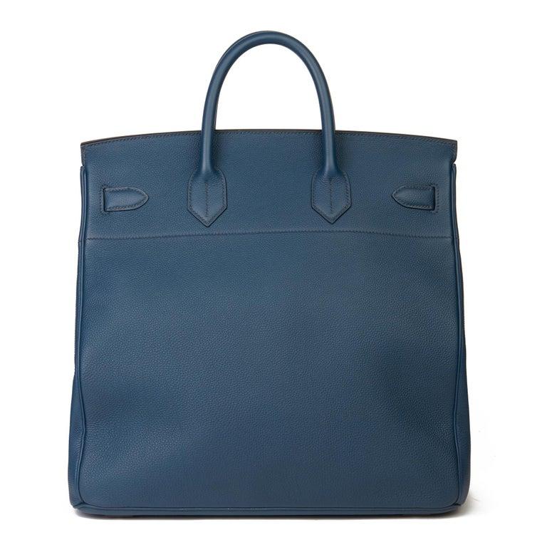 2015 Hermès Bleu de Prusse Togo Leather Birkin 40cm HAC For Sale 1