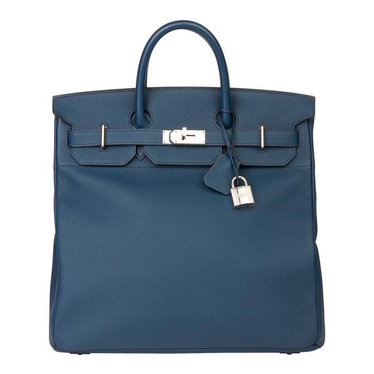 2015 Hermès Bleu de Prusse Togo Leather Birkin 40cm HAC For Sale