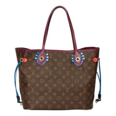 2015 Louis Vuitton Brown Monogram Coated Canvas Totem Neverfull MM