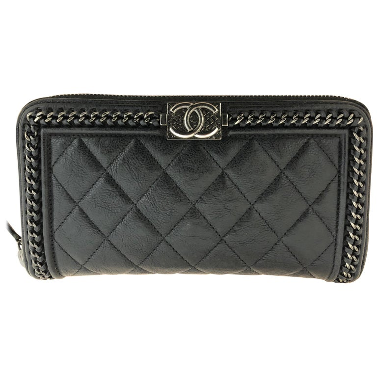 2016-17 Limited Edition Black Boy Chanel Long Wallet/Clutch Series 22 For Sale