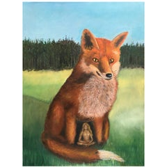 "2016, Bente Ørum Painting ""The Fox and The Virgin"""
