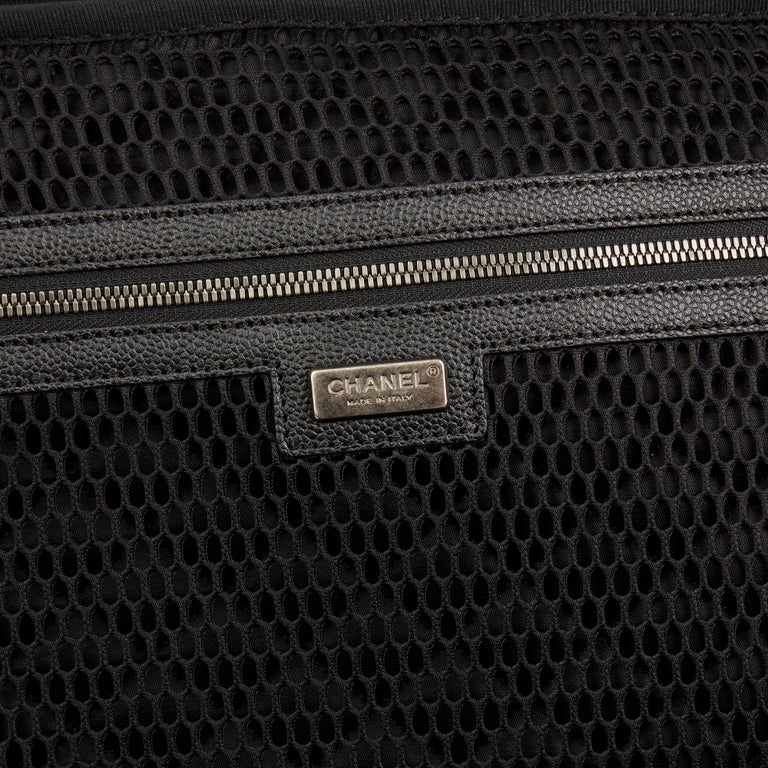 2016 Chanel Black Tweed & Caviar Leather Jacket Trolley Rolling Suitcase For Sale 4