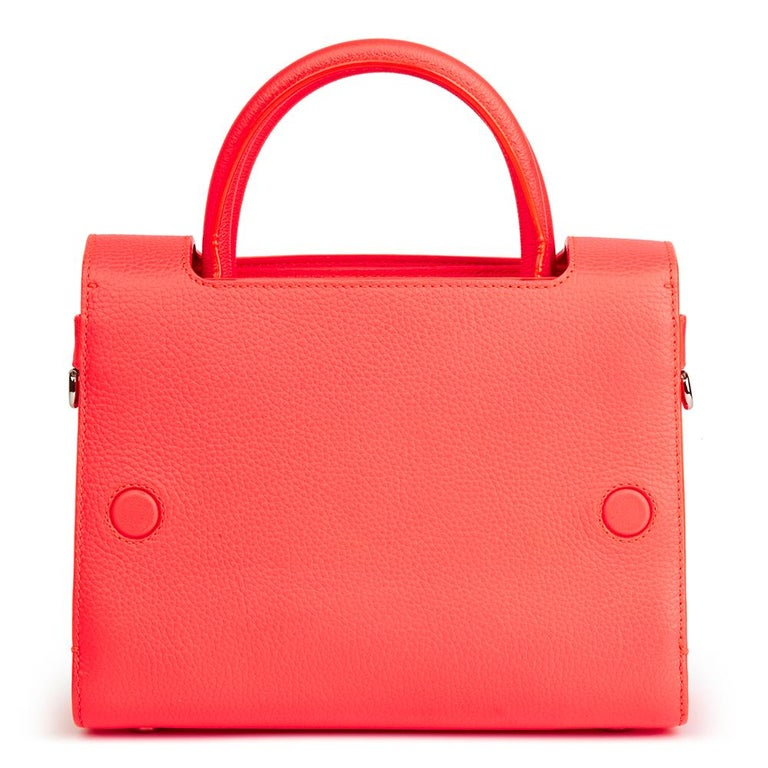 2016 Christian Dior Goji Pink Grained Calfskin Mini Diorever Tote For Sale 1