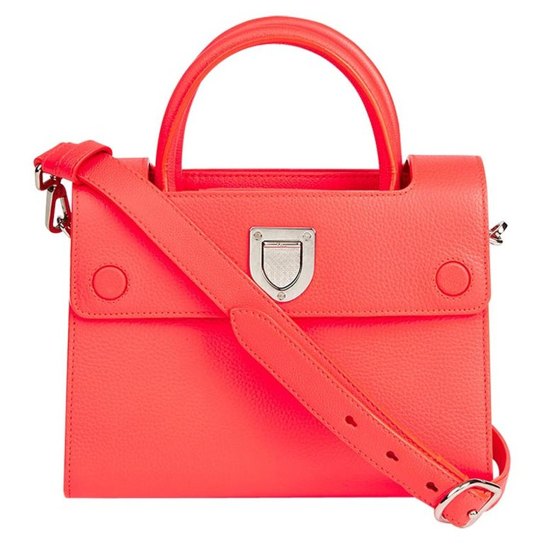 2016 Christian Dior Goji Pink Grained Calfskin Mini Diorever Tote For Sale