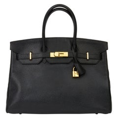 2016 Hermès Black Clemence Leather Birkin 35cm