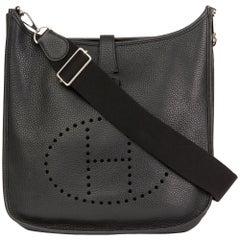 2016 Hermès Black Clemence Leather Evelyne III 33