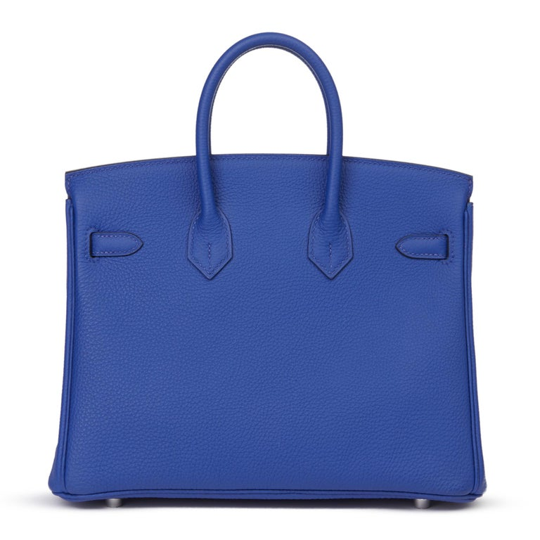 2016 Hermès Blue Electric Togo Leather Birkin 25cm 1