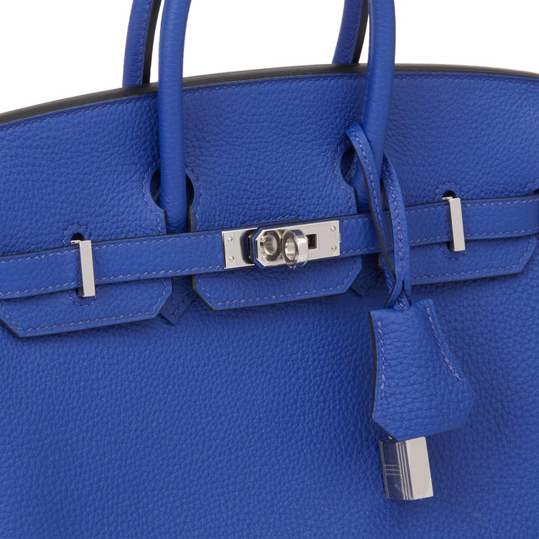 2016 Hermès Blue Electric Togo Leather Birkin 25cm 3