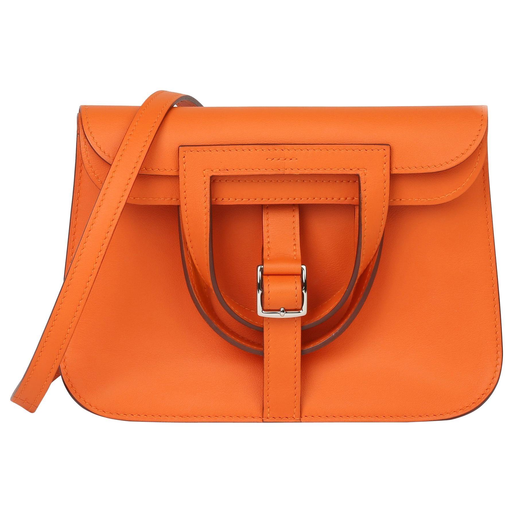 2016 Hermes Orange H Swift Leather Halzan 22