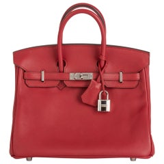2016 Hermès Rouge Grenat Swift Leather Birkin 25cm