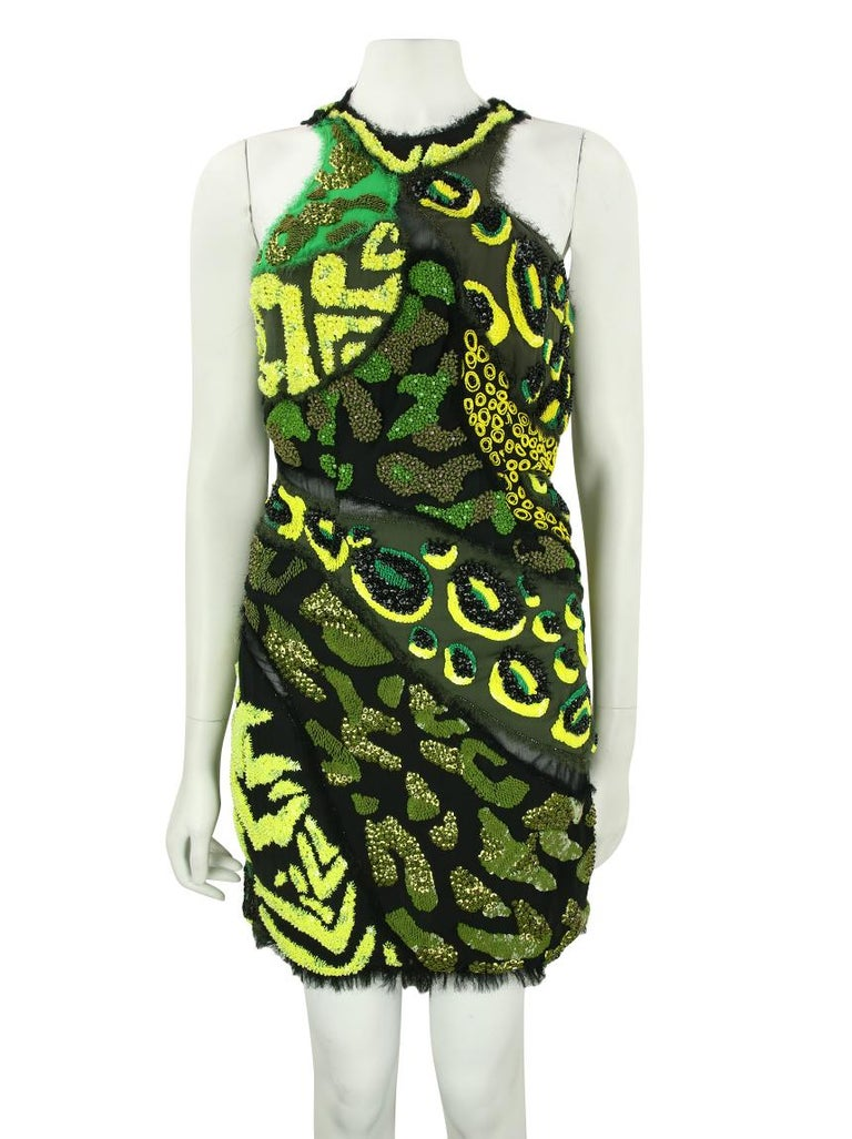 2016 Iconic Versace Embellished mini dress as seen on InStyle cover In Excellent Condition For Sale In Montgomery, TX