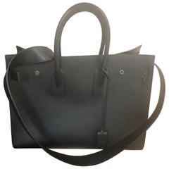 2016 Large Saint Laurent SDJ in Black Grained Leather as New with Full Kit