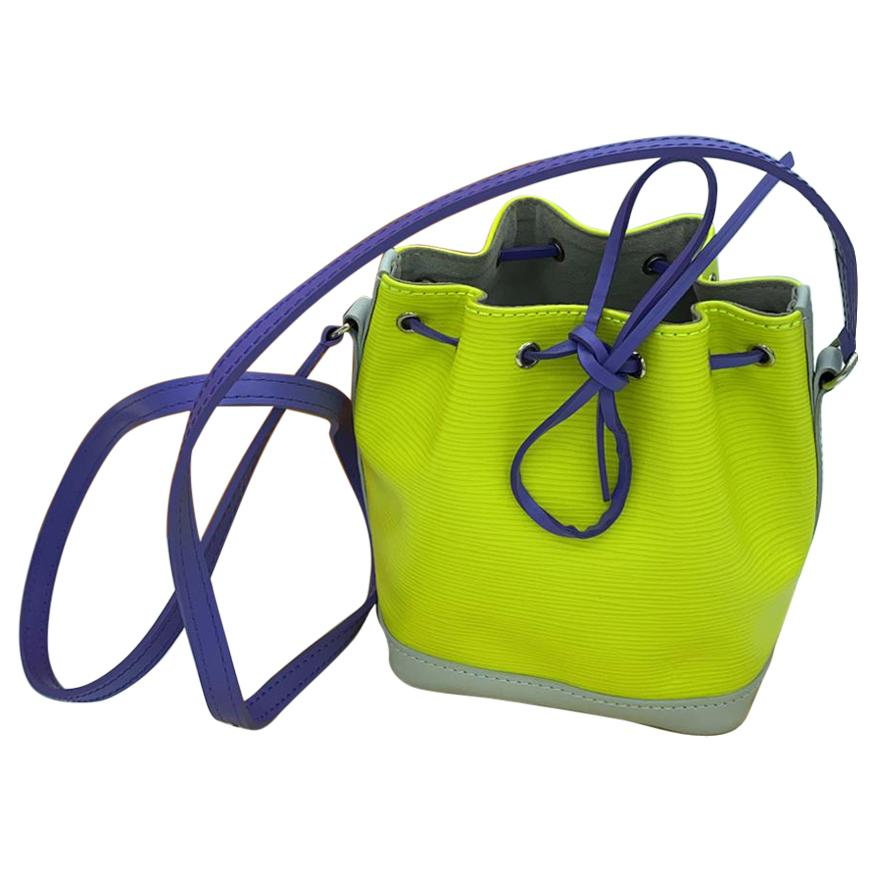 2016 Louis Vuitton Nano Noe Epi leather yellow purple satchel