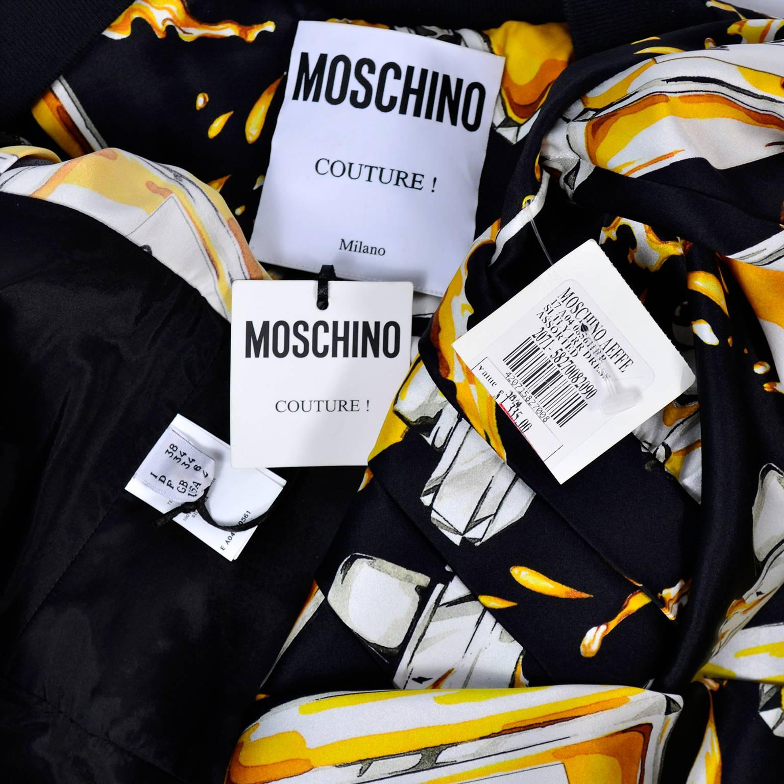 2016 Moschino Couture Dress in Satin